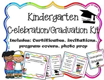 Editable kindergarten graduationcelebration printables kindergarten graduationcelebration printables includes certificates diplomas invitations program covers and yelopaper Images