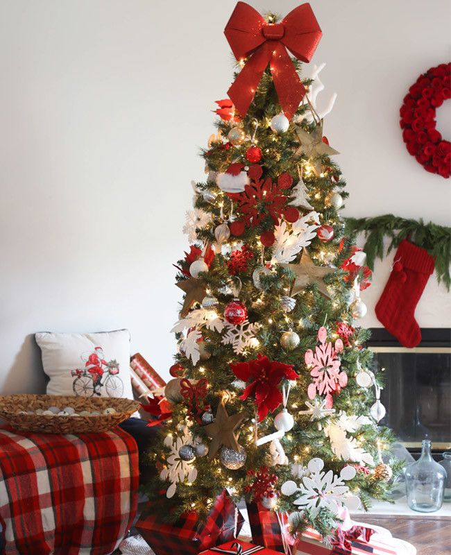 10 days of trees classic red and white wayfair - Wayfair Christmas Decorations
