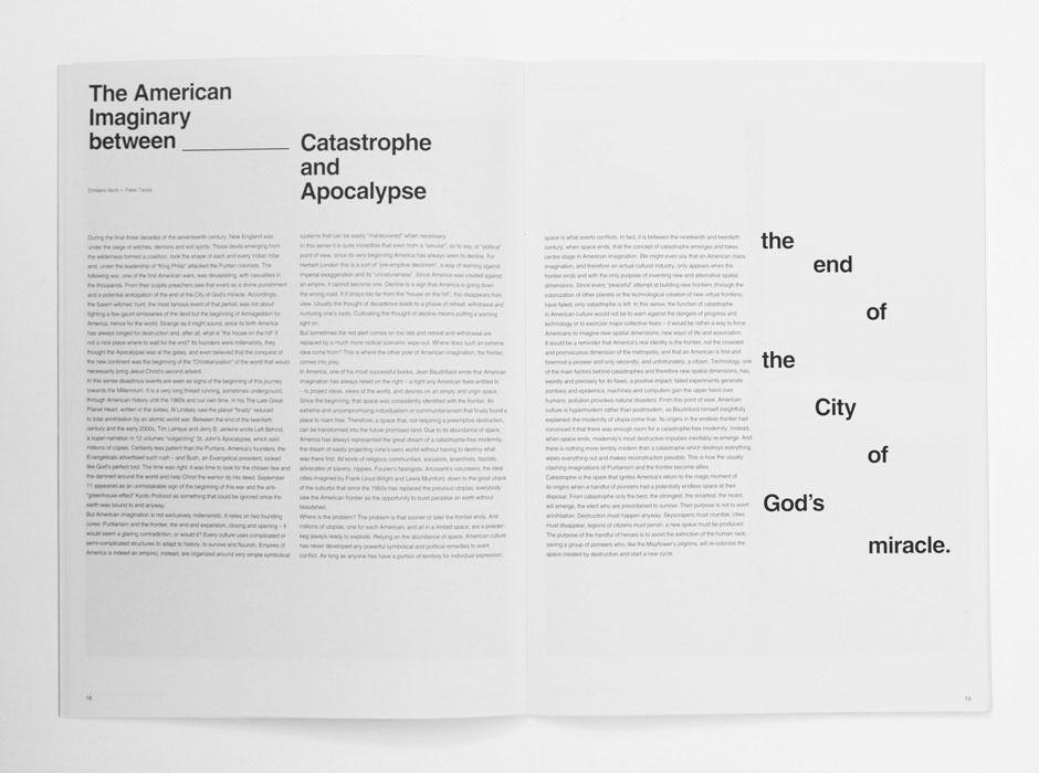 ARTIVA DESIGN / Bench.li Magazine page layouts, Layout