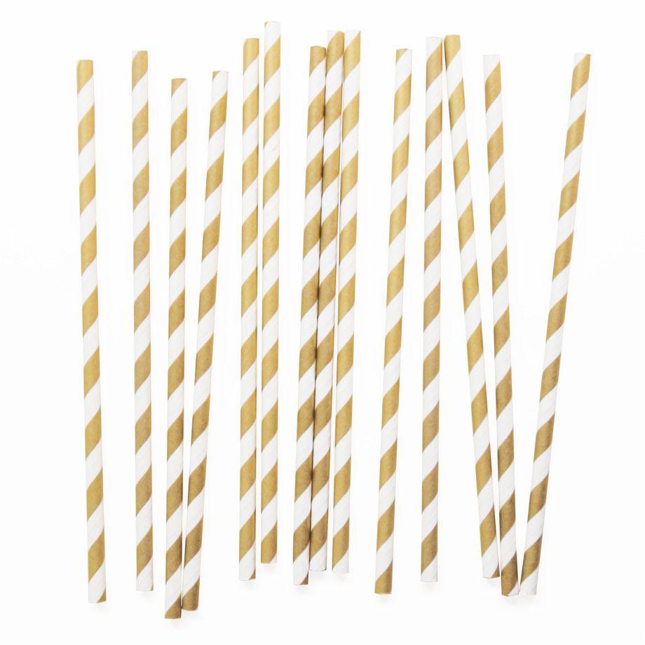 Raidallinen paperipilli, kulta 25 kpl (4,50€)