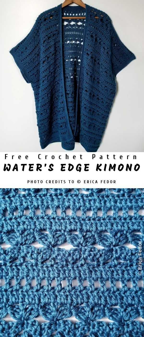 Water's Edge Crochet Kimono [Free]