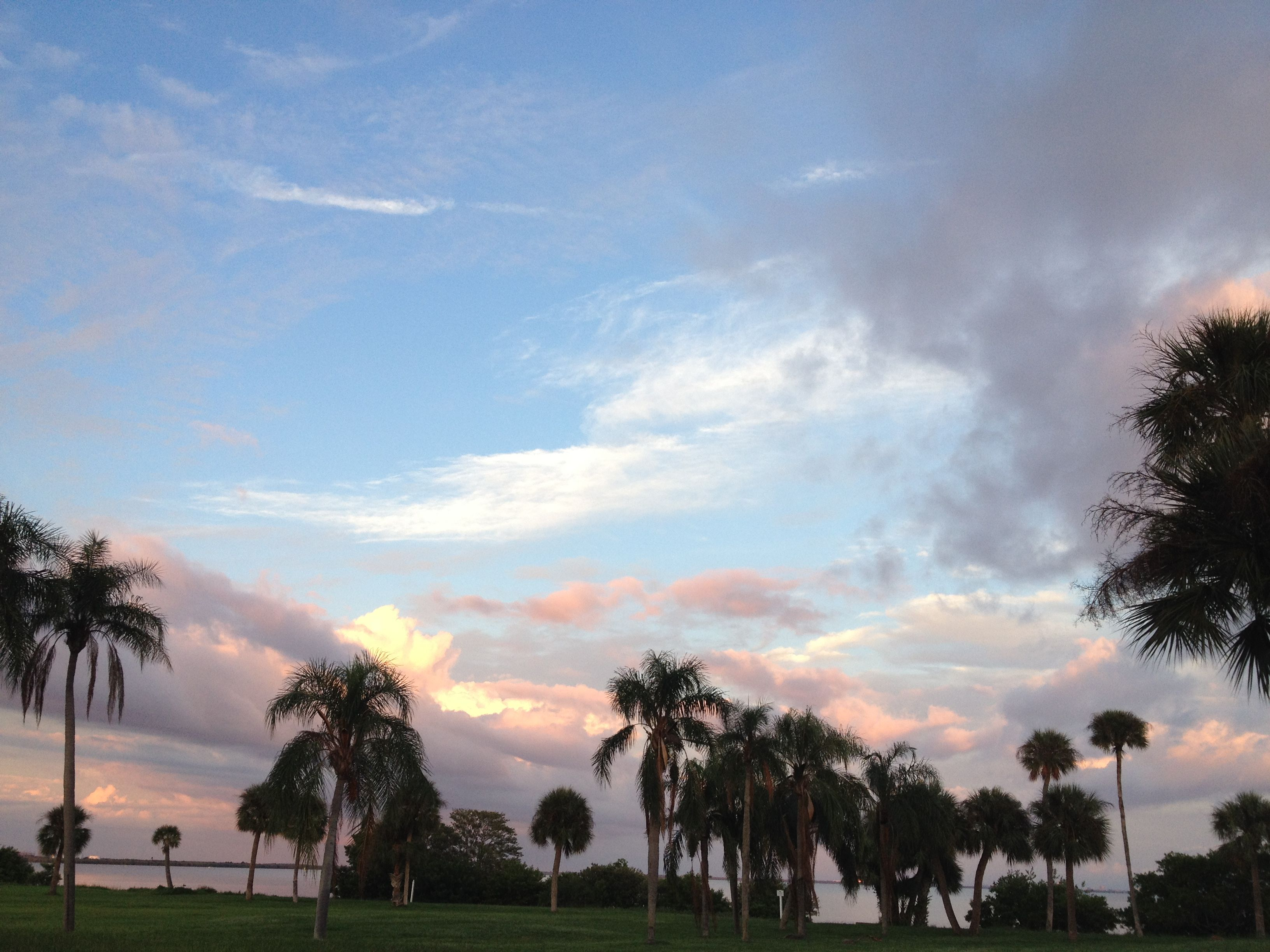 clouds over Safety Harbor I can't wait to be here