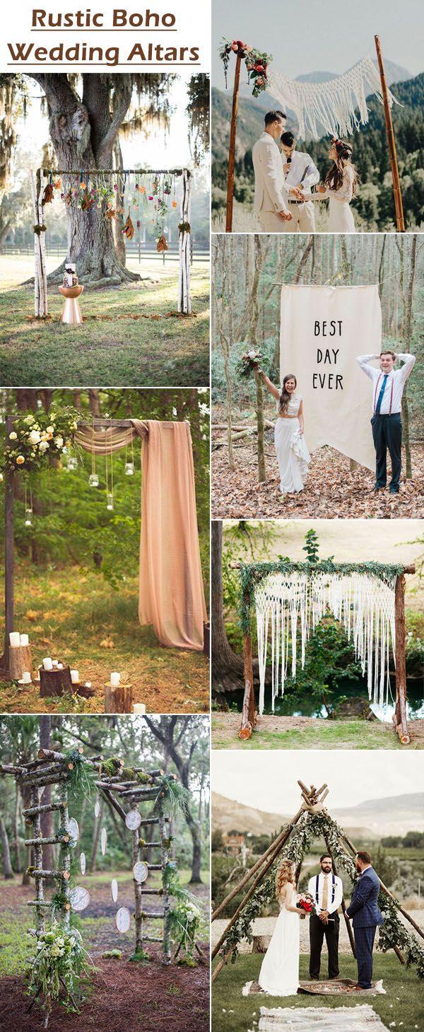 chic and easy rustic wedding arch ideas for diy brides wedding