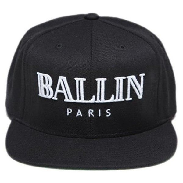 10850fc9d4f ALEX   CHLOE Ballin Paris Snapback Hat ( 44) ❤ liked on Polyvore featuring  accessories