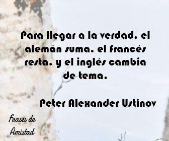 Frases Filosoficas Sobre La Verdad De Peter Alexander