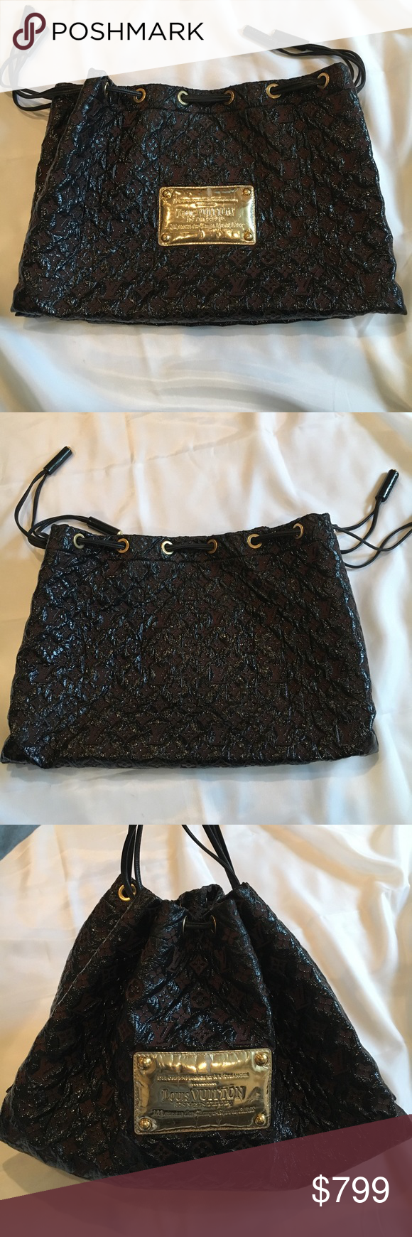 Louis Vuitton squishy inventeur Absolutely gorgeous Louis Vuitton squishy  purse. Hard to find. Black f0df6c204c700
