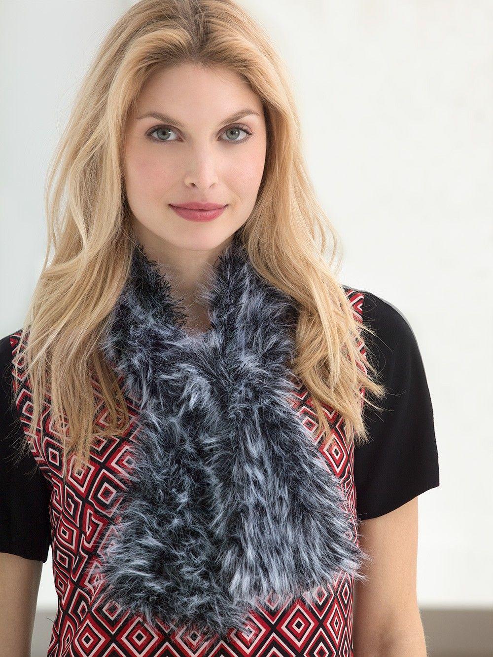 Fabulous Fur Scarf Pattern (Crochet)