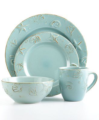 Thomson Pottery Cape Cod 16-Piece Set - our new dishes for the c&er  Coastal CottageCoastal DecorCoastal ...  sc 1 st  Pinterest & Thomson Pottery Cape Cod 16-Pc. Set Service for 4   Cod Pottery ...