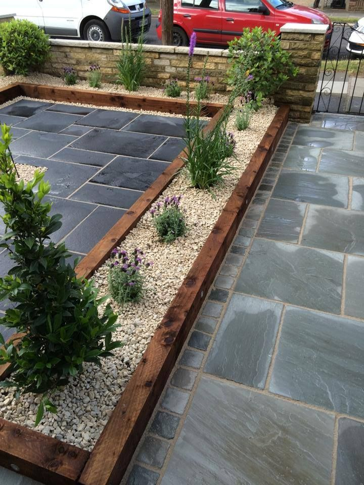 Sleeper Border Edges Only Brown No Yellow Sleepers Setts To Back Of House Sets Along