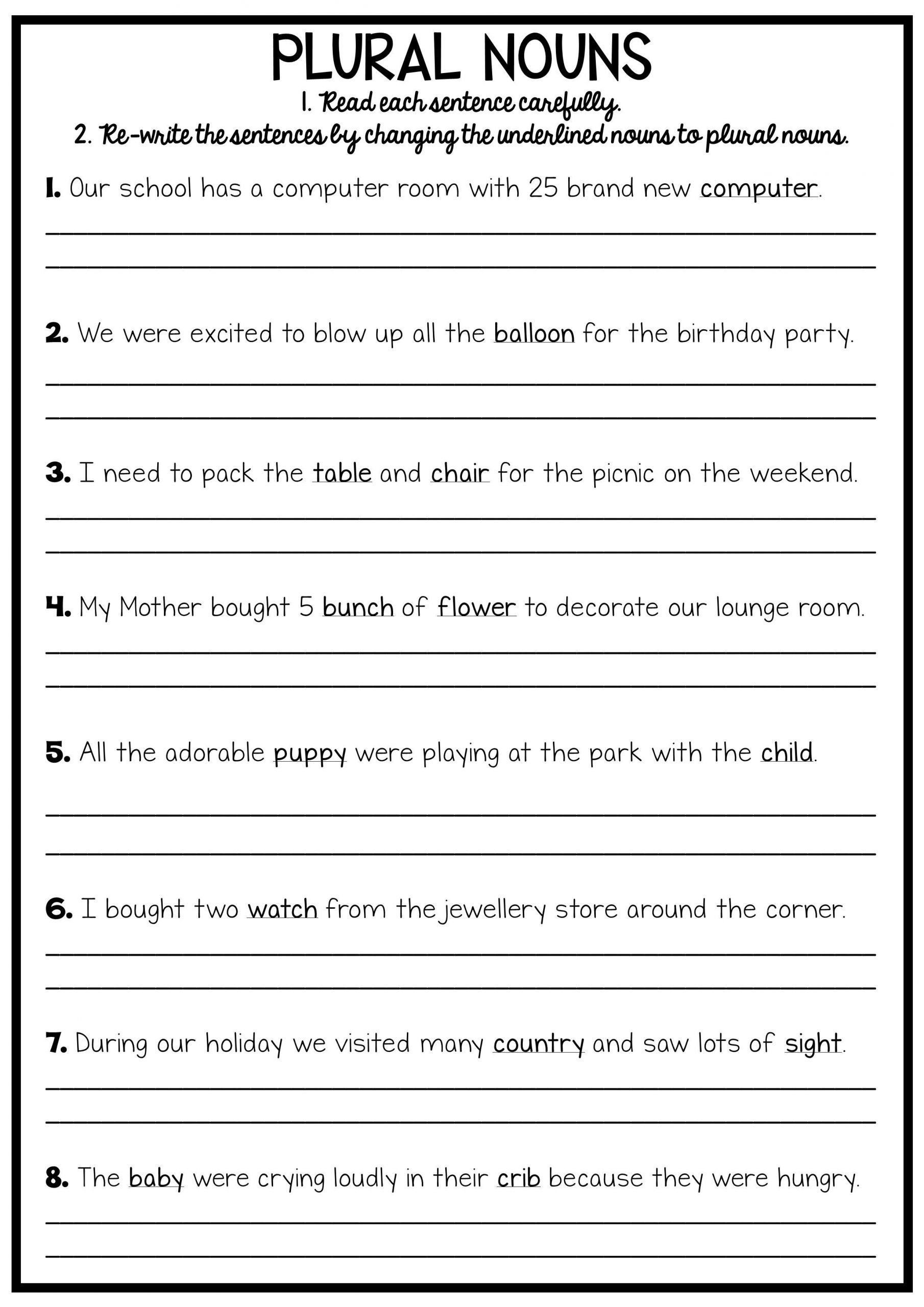 Summarizing Worksheet 3rd Grade 10 Free Verb Tense