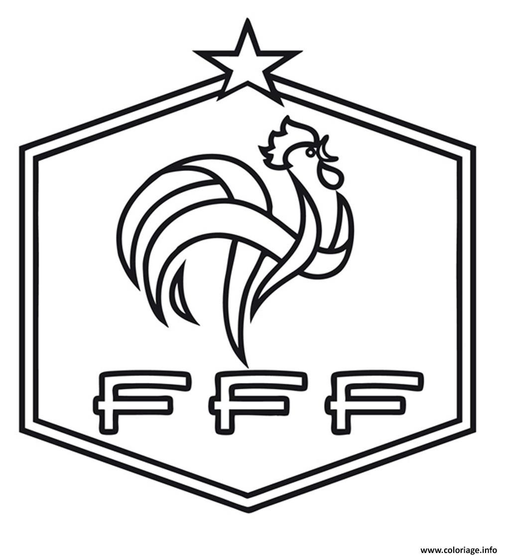 Coloriage foot france fff dessin encequiconcerne coloriage foot gratuit fff france team - France football gratuit ...