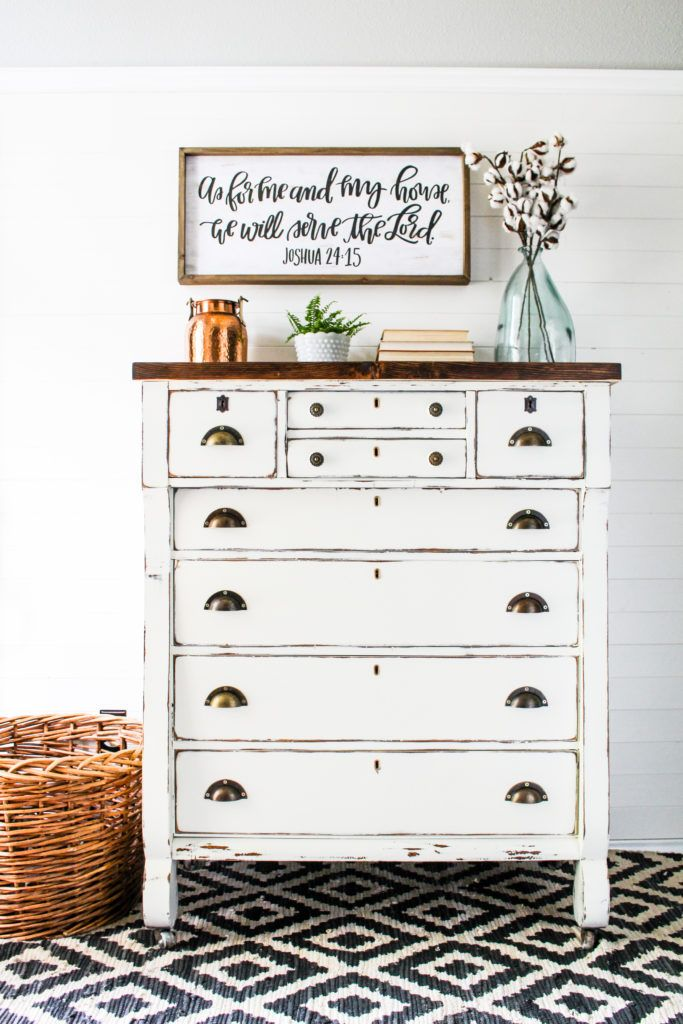 Farm style Empire Dresser with General Finishes Milk Paint | For the ...