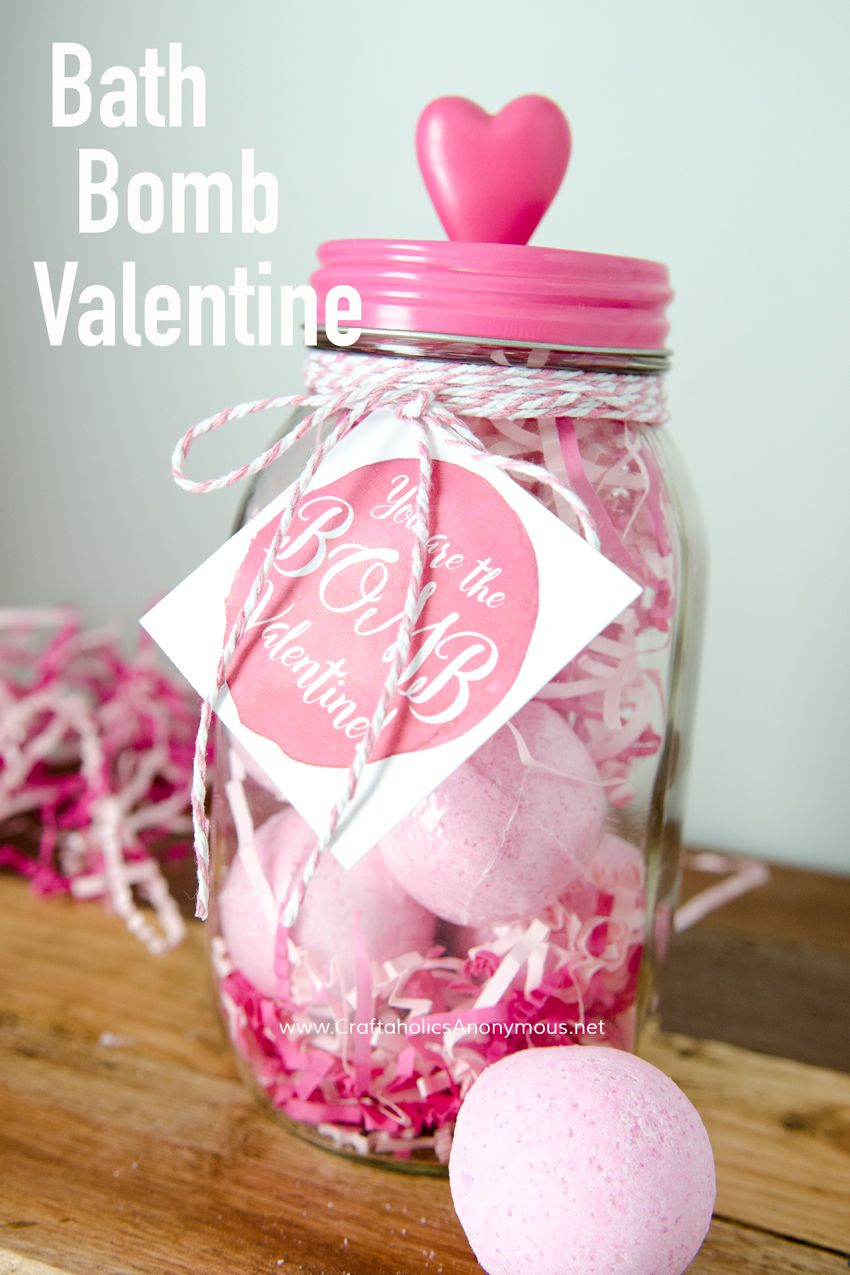 Free Bath Bomb Valentine Printable