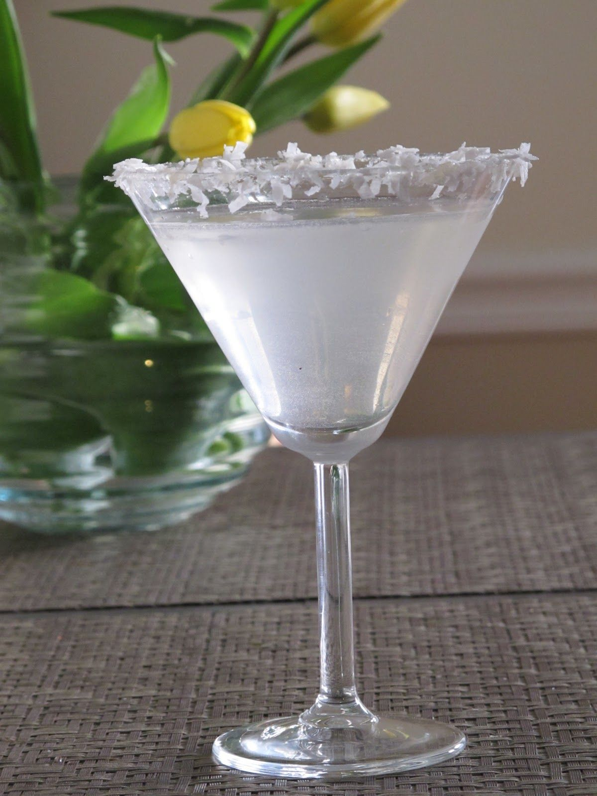 COCONUT CAKE MARTINI Ingredients 1 part CakeFlavored Vodka 3