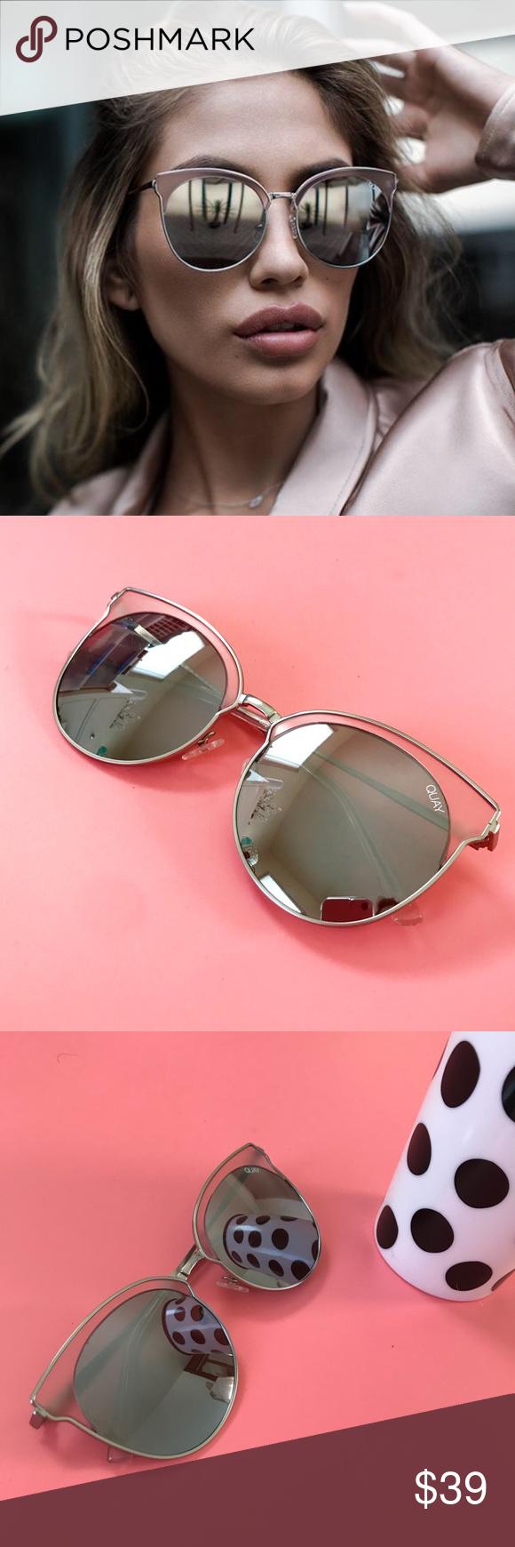 178c0e7c0d75f Quay Australia Mia Bella Reflective Sunglasses Quay Australia round  reflective lenses set in a metal frame
