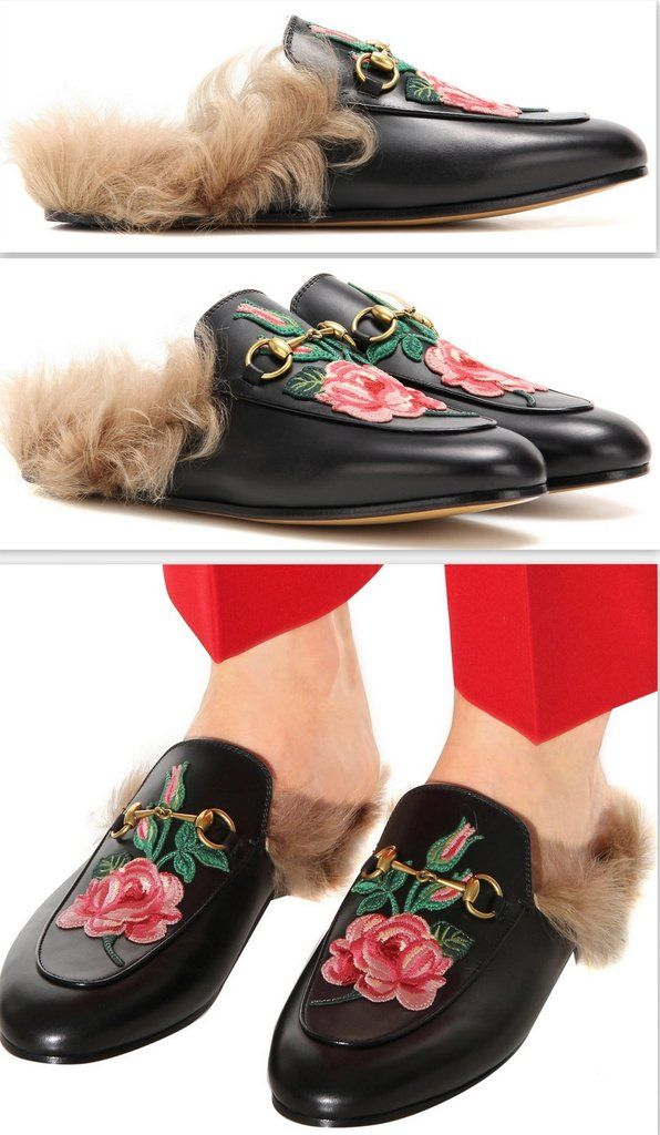 Gucci Princetown Floral Leather Flat Mules cShknenTG6