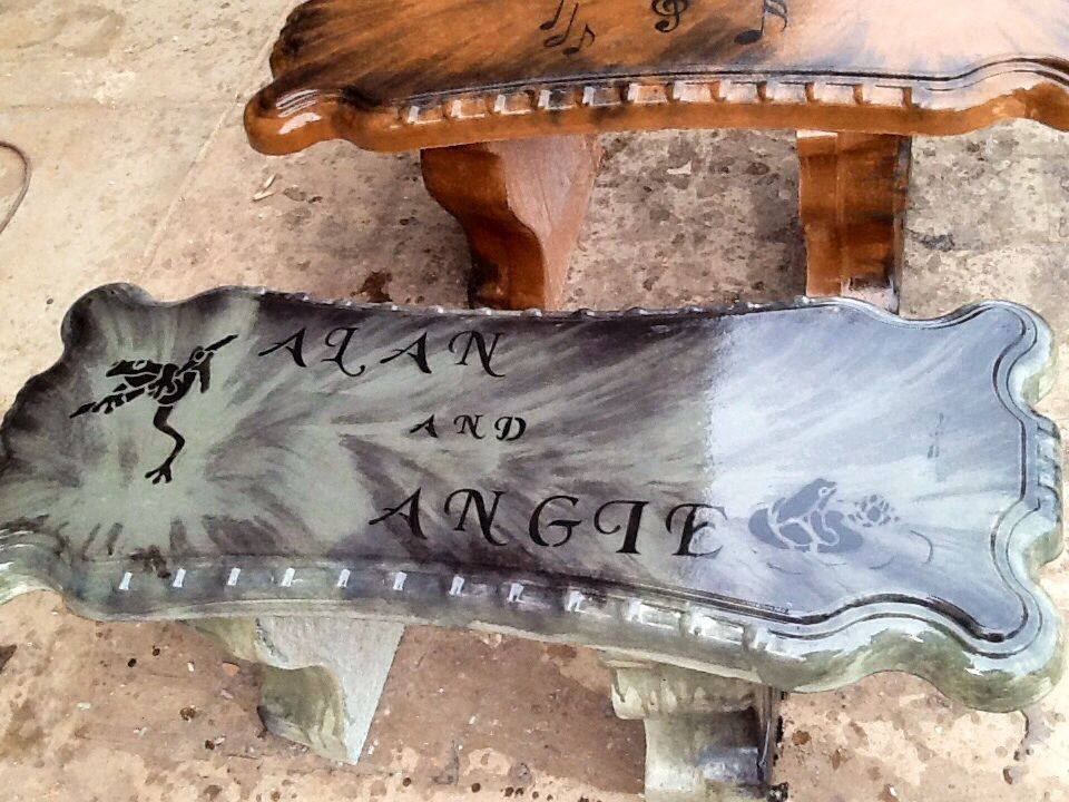 Awe Inspiring This Concrete Garden Bench Features Frogs And Extra Ncnpc Chair Design For Home Ncnpcorg