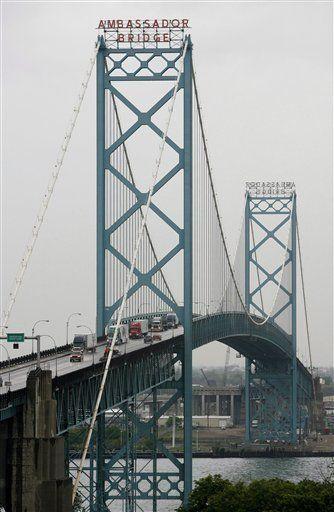 Ambassador Bridge between Detroit, MI & Windsor, ON