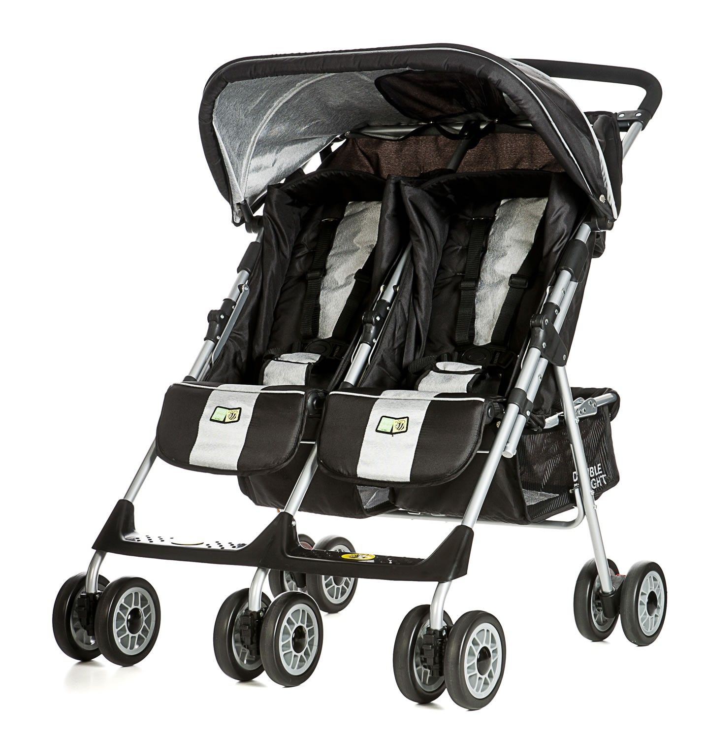 Kinderwagen Easywalker Duo Easywalker Duo Plus Double Pram Coal Black Twin Gear