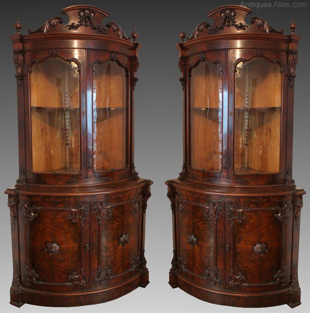 Pair Of Mahogany Corner Cabinets 19 Century Antiques Atlas