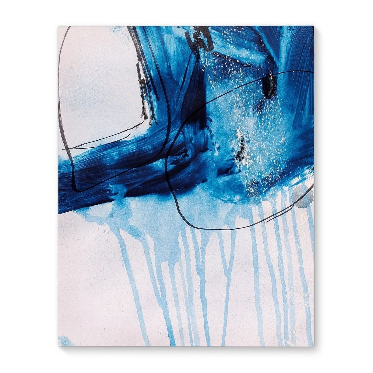 Blue Abstract Set Two Blue/ Canvas Art