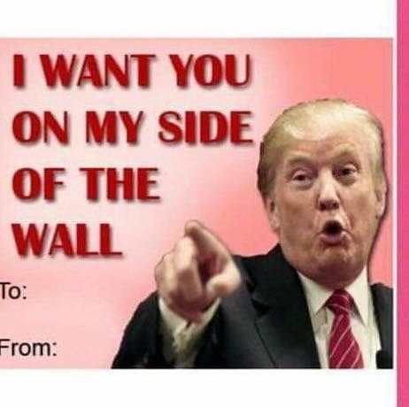 I Want You On My Side Of The Wall Valentine Downloadable Card