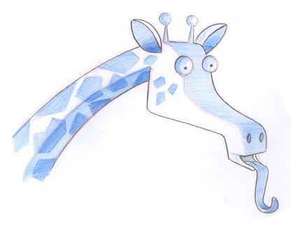 giraffe close Marcos Llussá llussa.blogspot.com