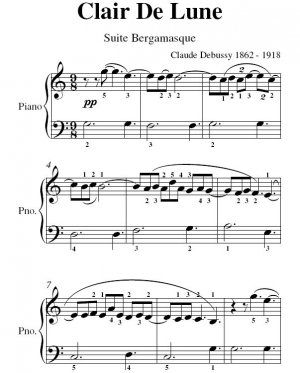 Clair De Lune Debussy Big Note Piano Sheet Music Pdf Sheet Music