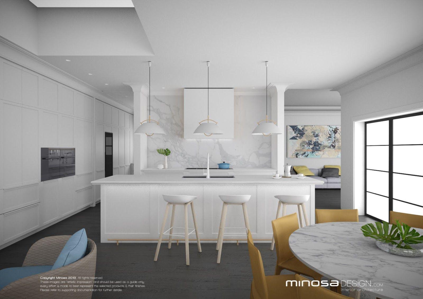 hamptons style kitchen designs   minosa-hamptons-style-kitchen ...