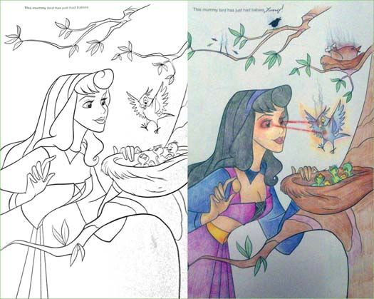 - 14 More Coloring Book Corruptions Corrupt Coloring Book, Coloring Books,  Disney Coloring Pages