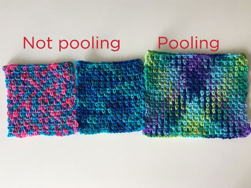 Technique :: A Quick Guide to Color Pooling | Red Heart #crochet ...