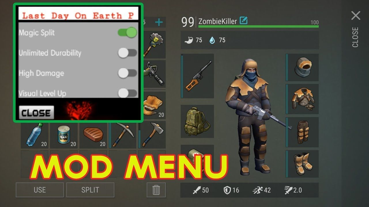 Last Day On Earth Survival Mod Menu 1 6 2 Update Level 99 Free