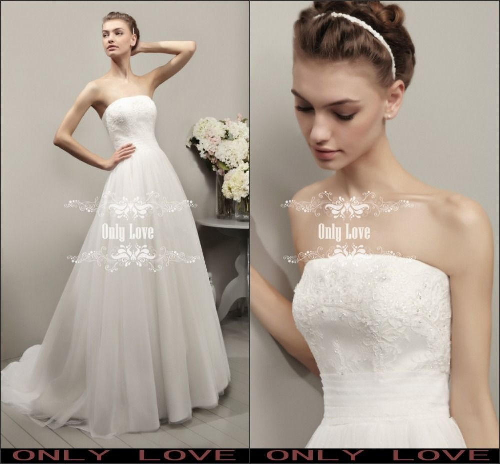 designer new fashion strapless beaded alencon lace organza a