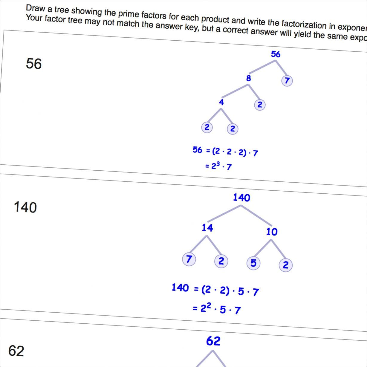 Worksheets Factorization Worksheets the prime factorization math worksheets are not only great skill builders for algebra they can help teach basic multiplication sk