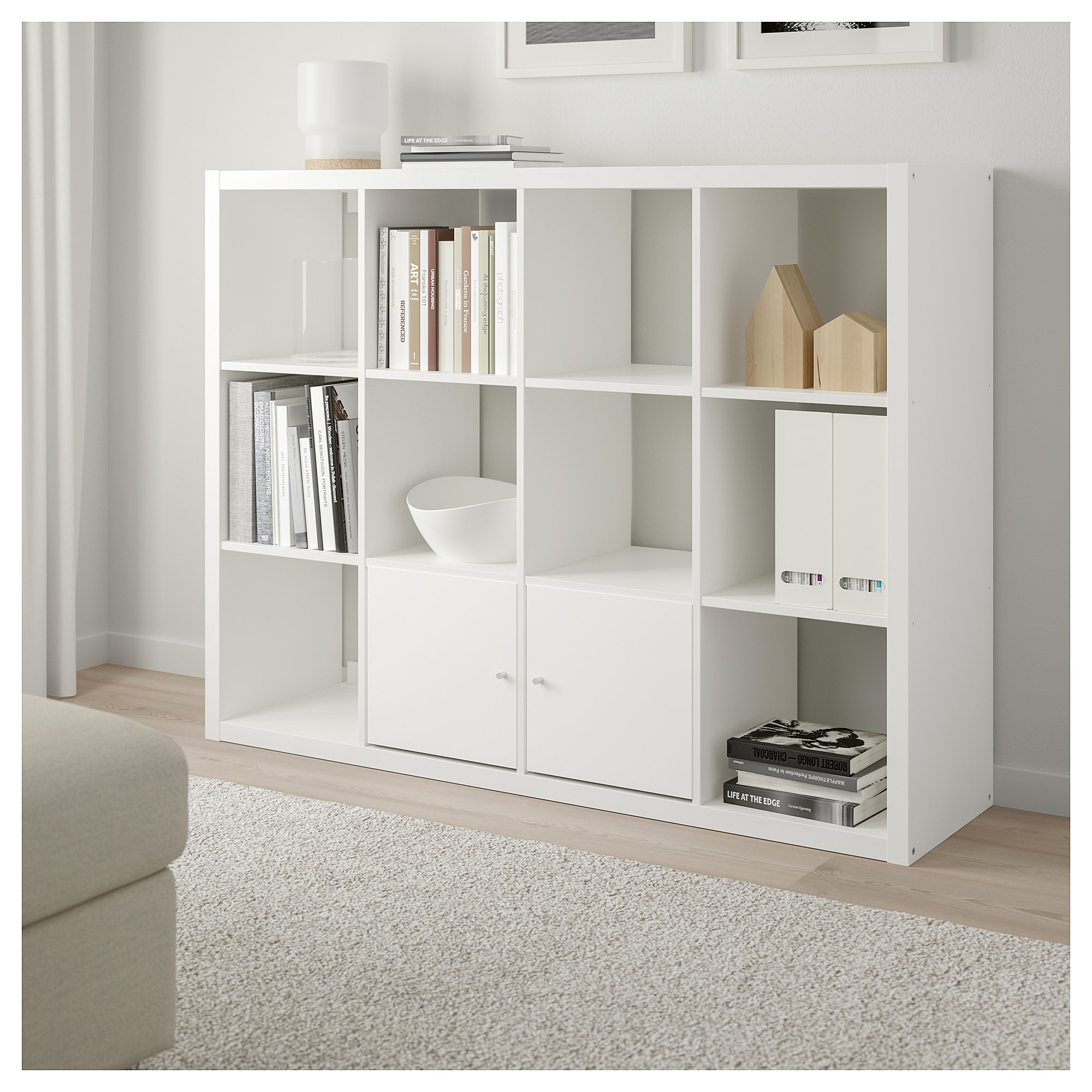 Ikea Kallax Shelf Unit White In 2019 Bedroom Furniture