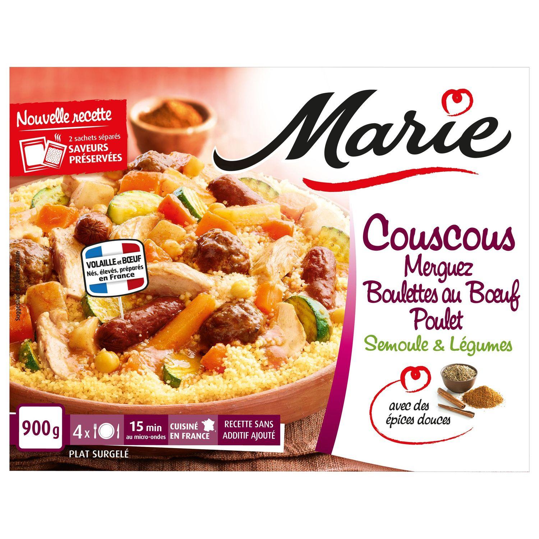 Plat Cuisine Couscous Merguez Poulet Marie Le Sachet De 900 G A