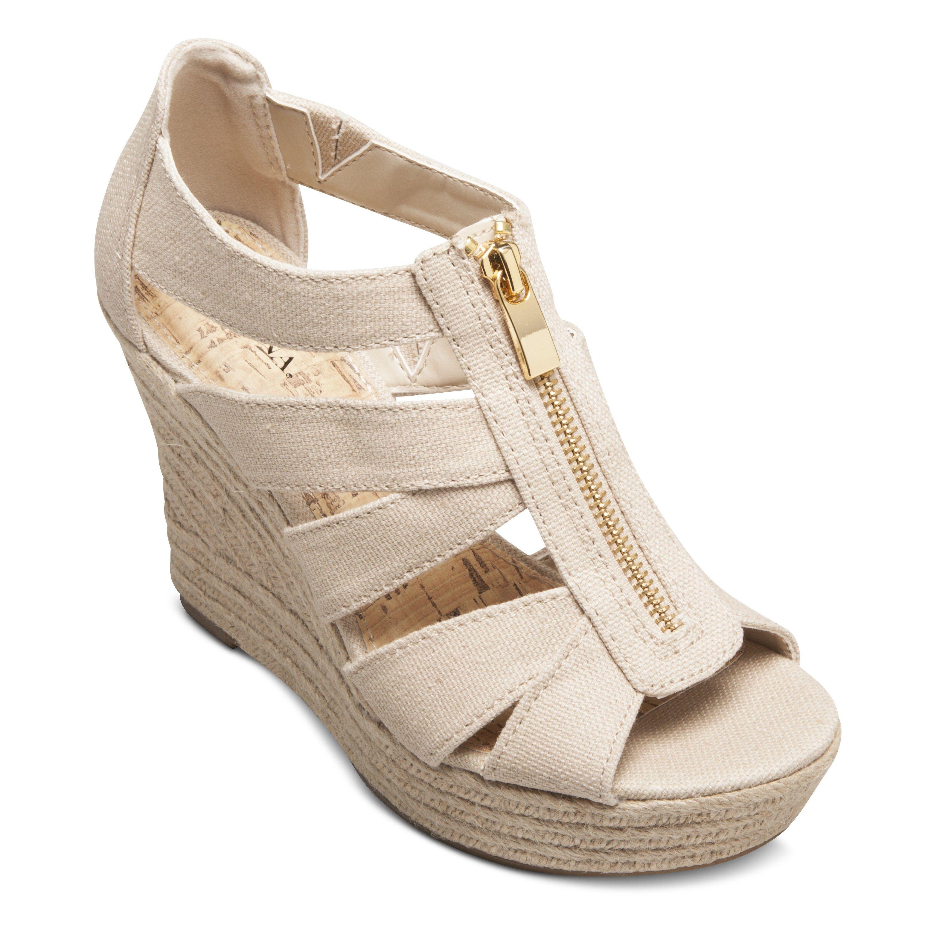 Women's Meredith Zipper Wedge Sandals