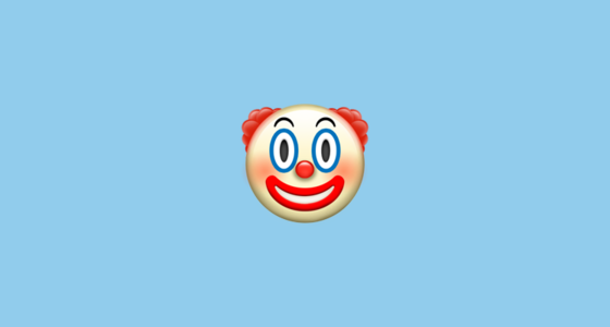 A Classic Circus Or Birthday Clown Features White Face Makeup A Red Nose Exaggerated Eyes And Smile And Two Tuft Cute Emoji Wallpaper Emoji Wallpaper Emoji