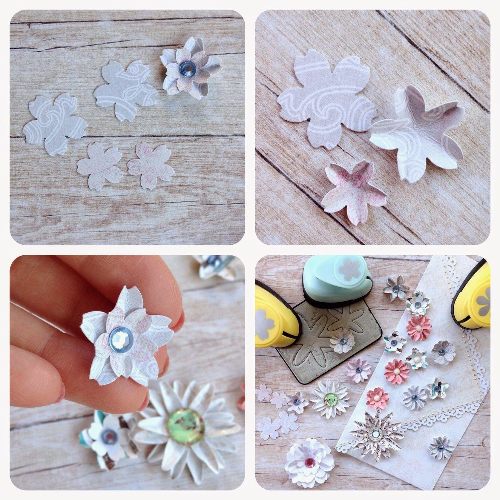 Scrapbooking Cardmaking Jak Zrobic Kwiatki Z Papieru Flower Making Paper Flowers Scrapbook