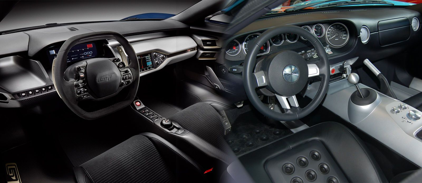 The New 2016 Ford Gt S Interior Vs Ford Gt 2005 Ford Gt Ford Gt