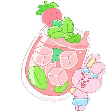 Bt21 Cooky Drink Illustration Sticker by Beanists