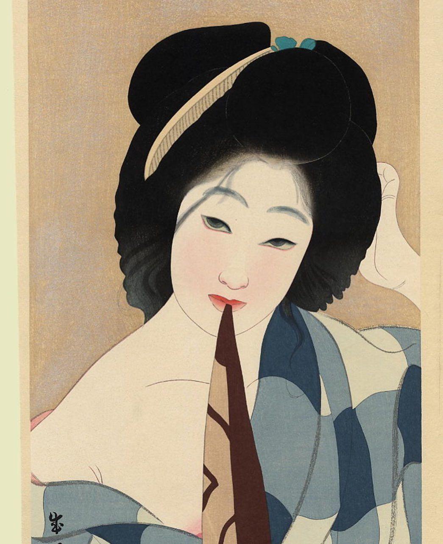 Geisha1nk On Instagram Artist Seien Shima Title July After The Bath Shichigatsu Yuagari Date 19 Japanese Woodblock Printing Japanese Art Japan Painting