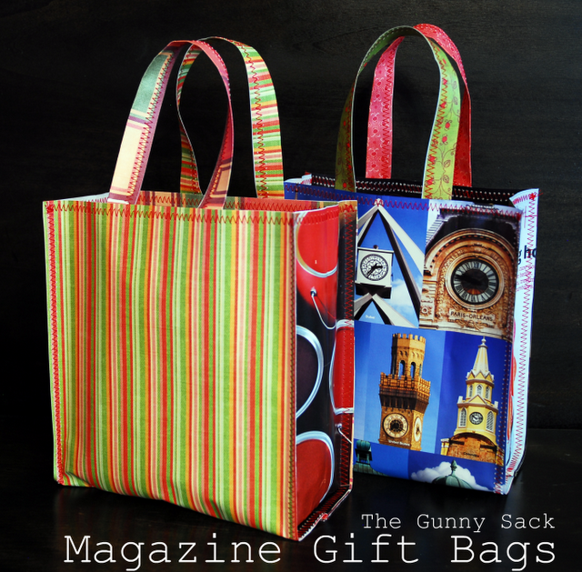 {Tutorial Tuesday} Magazine & Paper Gift Bags - The Gunny Sack