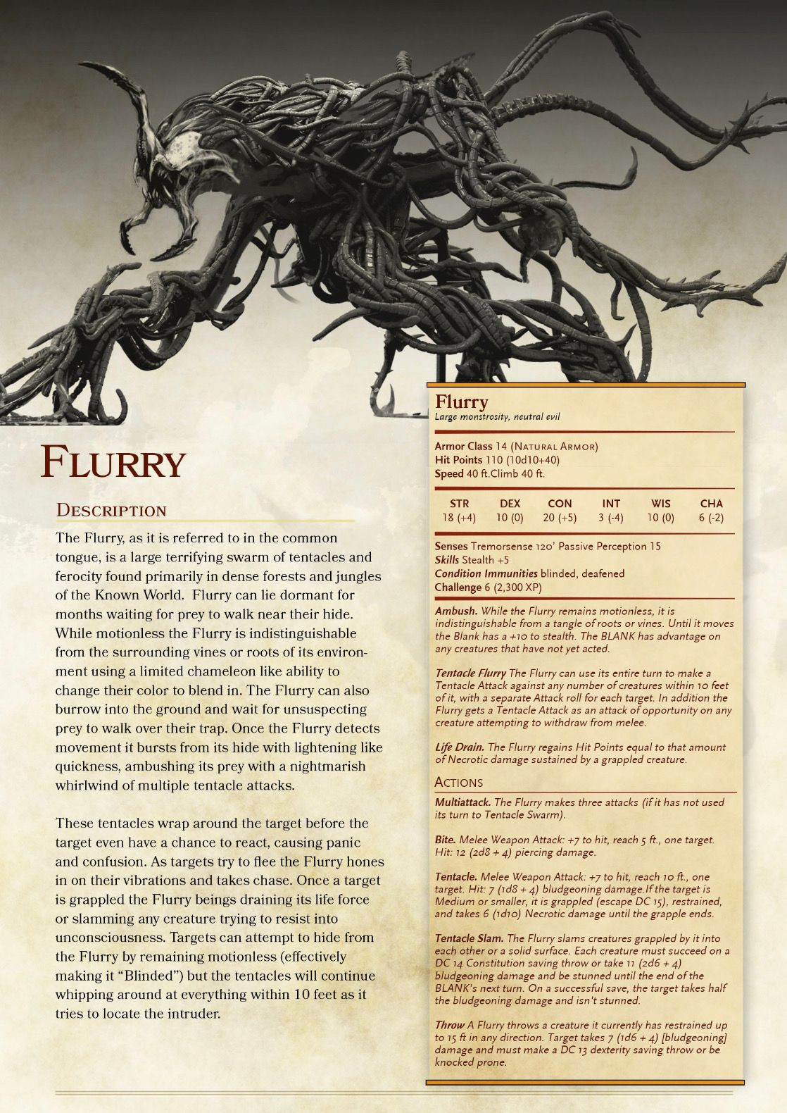 Flurry | monsters in 2019 | Dnd monsters, Fantasy creatures