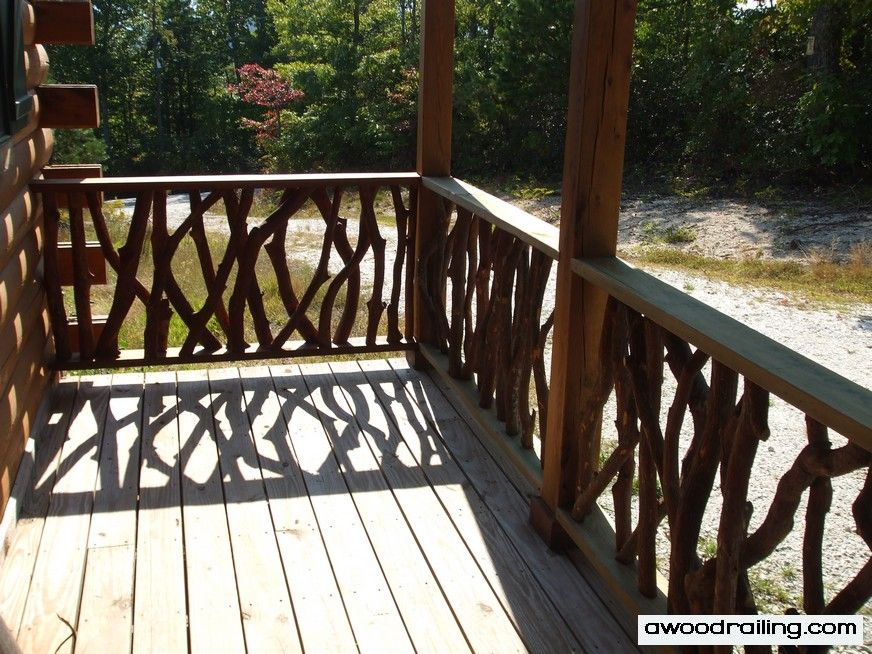 Log Cabin Deck Railing Designs View More Deck Railing Ideasu2026