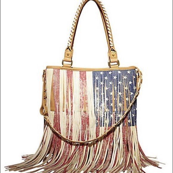 Hpsteve Madden American Flag Fringe Tote My Posh Picks