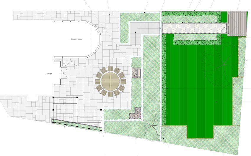 Garden Design For Families garden design plan for a sloping family garden in reading