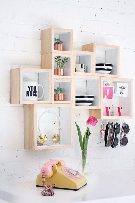 diy teen room decor ideas for girls diy box storage cool bedroom rh pinterest com