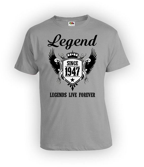 Legend Since 1948 Shirts Mens Funny 70th Birthday T Shirt 70 Year Old