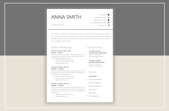 Resume Template  Cover Letter By Graphicsauthor  Resume Cv